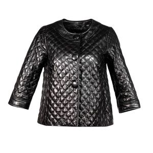 Vince - Black Quilted Leather Jacket Sz 4